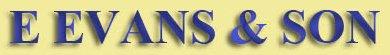 E EVANS & SON logo