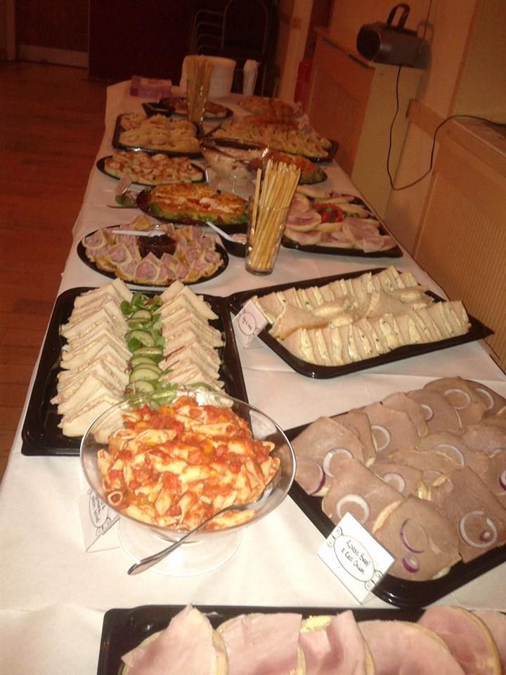 Sandwiches and met at catering event