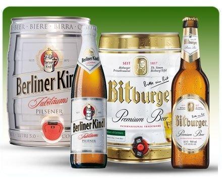 Diverse bottiglie di  birre estere