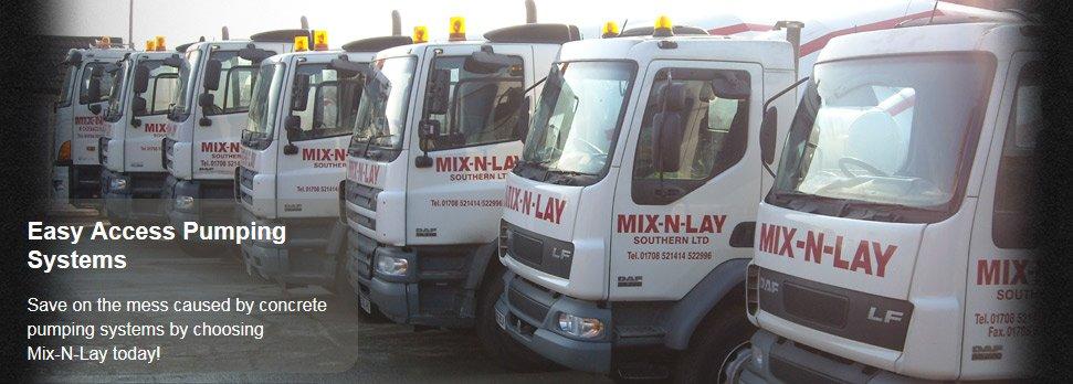 For concrete pumping in Rainham call Mix-N-Lay Concrete Supplies