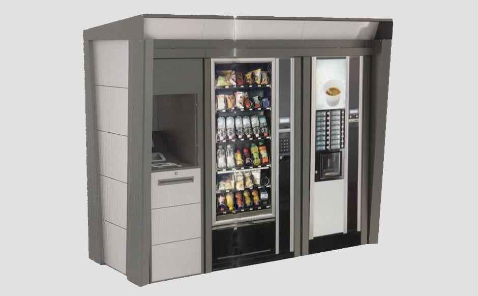 Distributori automatici di gransi dimensioni Piazza