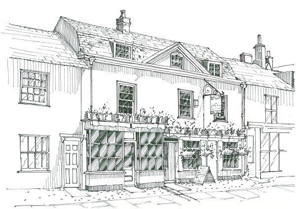 An old drawing of our pub