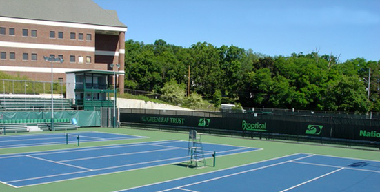 Beautiful outdoor tennis courts