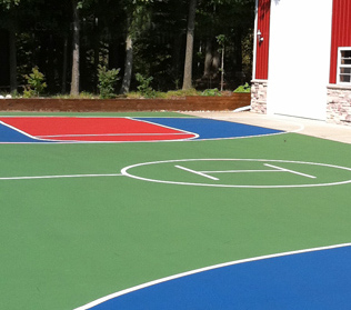 Beautiful residential basketball court