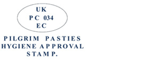 Pilgrim Pasties Hygiene Approval Stamp
