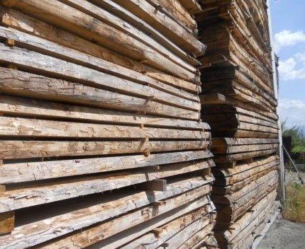 vista ravvicinata delle assi di legno