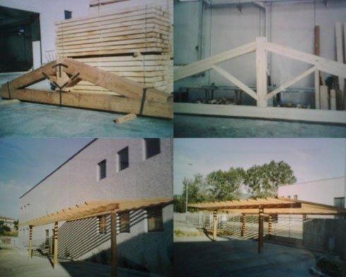 dei parapetti in legno