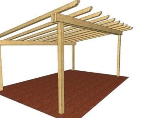 un disegno di un parapetto in legno