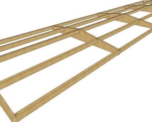 un disegno di una struttura in legno