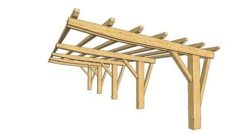 un disegno grafico di un parapetto in legno