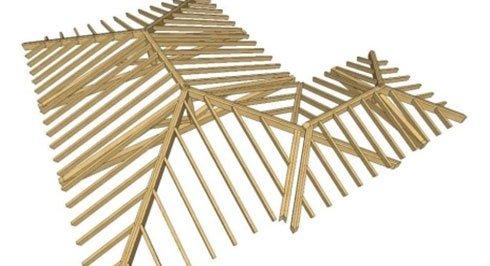 dei disegni delle strutture in legno per i tetti
