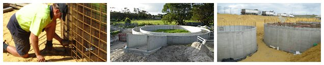 Images of concrete water tanks in Perth