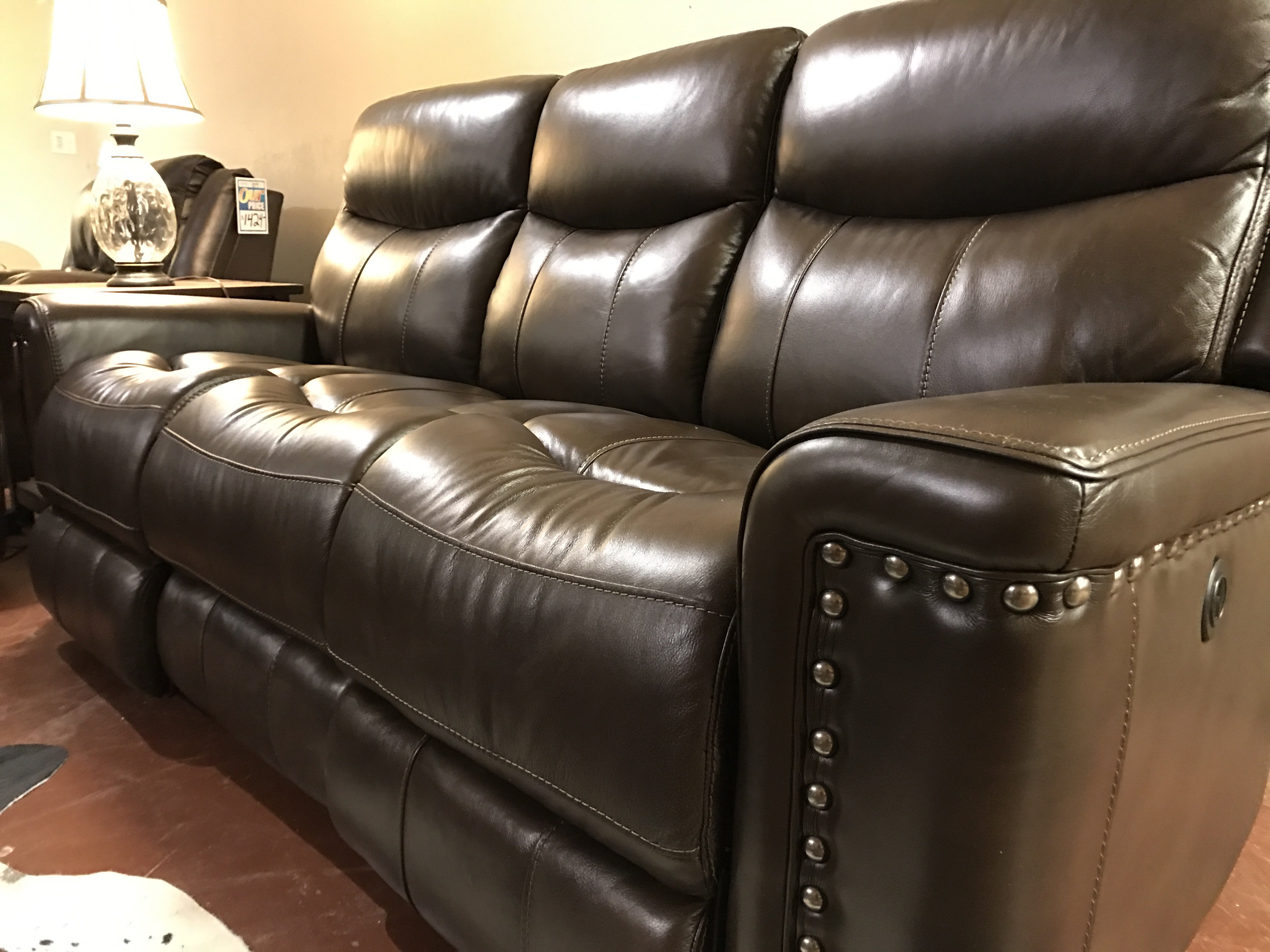 Howdy Home Brown Leather Sofa