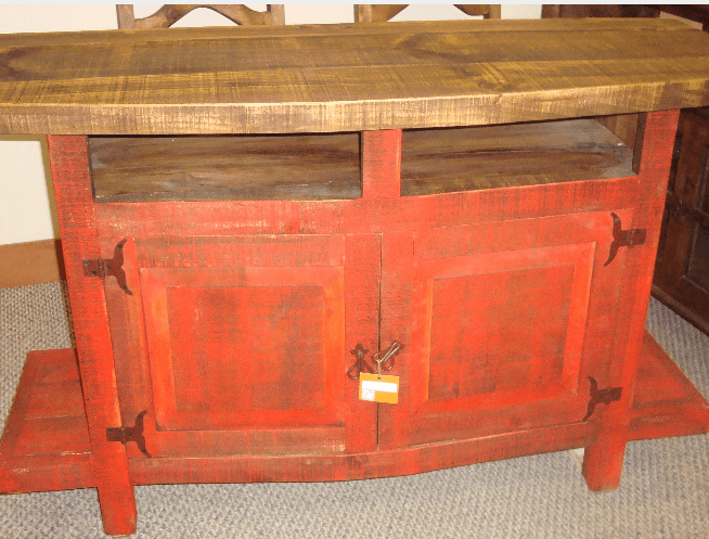 Howdy Home Furniture   Red Rustic Sofa Table. Rustic Furniture in Brazos Valley TX   Occasional Tables   Howdy