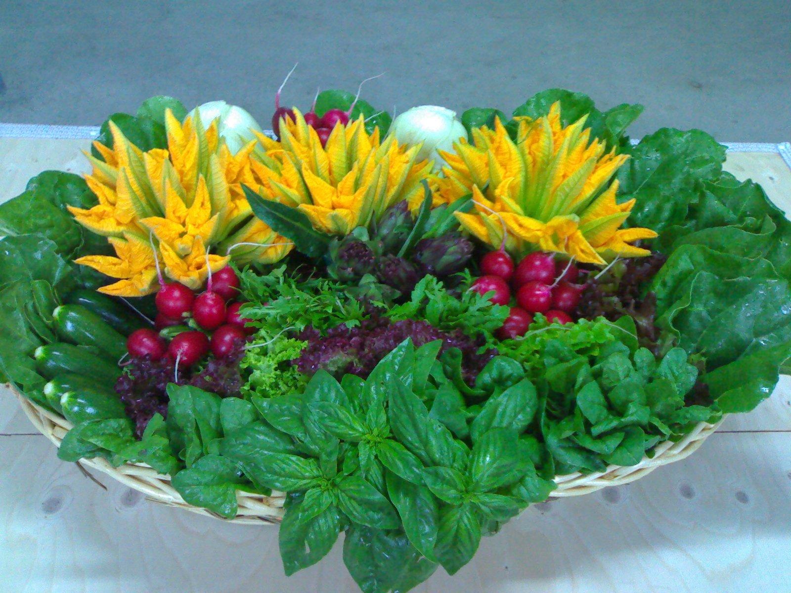 Menta, rapanelli e fiori di zucca dall'orto a Tenuta Civrana, Pegolotte di Cona
