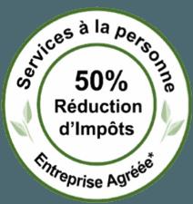 Logo Service à la personne 50% discount