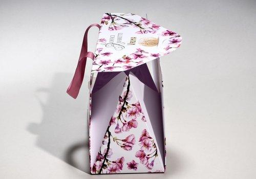 borsa bianca con fantasia a fiori