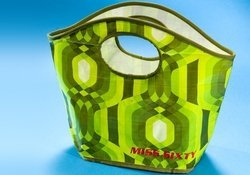 borsa verde a fantasia