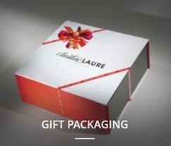 confezione regalo bianca e rossa per pacchetto regalo