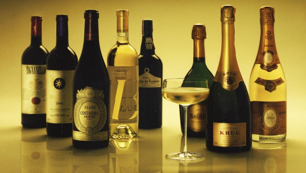 champagne, vini italiani selezionati