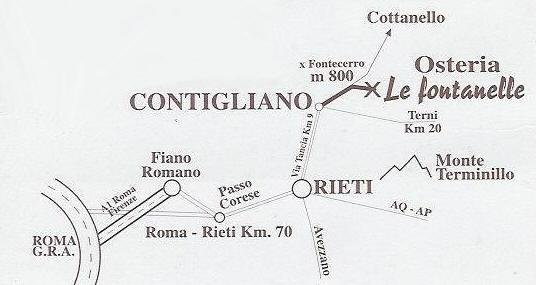Osteria le Fontanelle, Rieti
