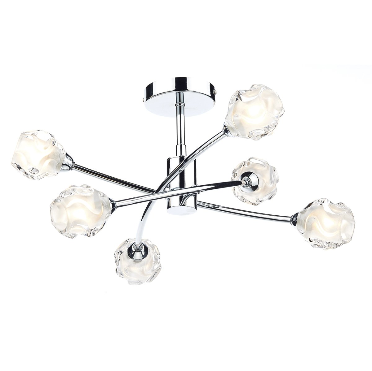 Seattle 6 Light Semi Flush Ceiling Light