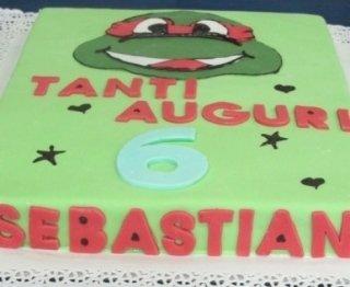 torta ninja verde