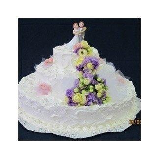 torte di matrimonio con fiori