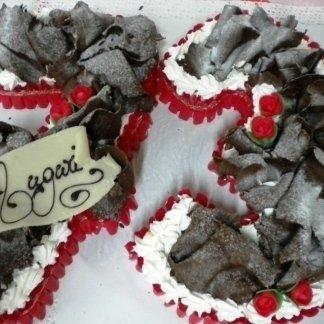 torta a forma di numero con selva al cioccolato