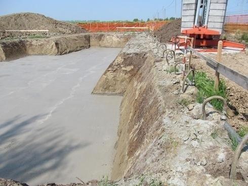 scavo con cemento