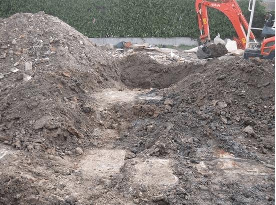 banchi di terra dopo un sopralluogo geotecnico