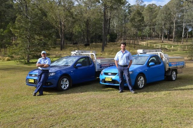 Father and son team with their utes