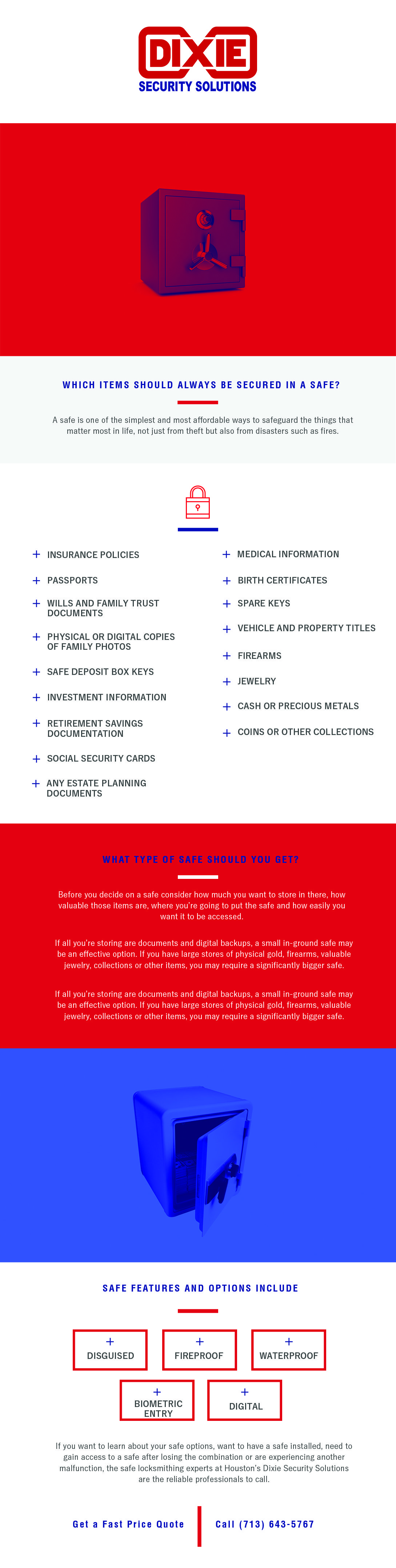 items to keep in your safe