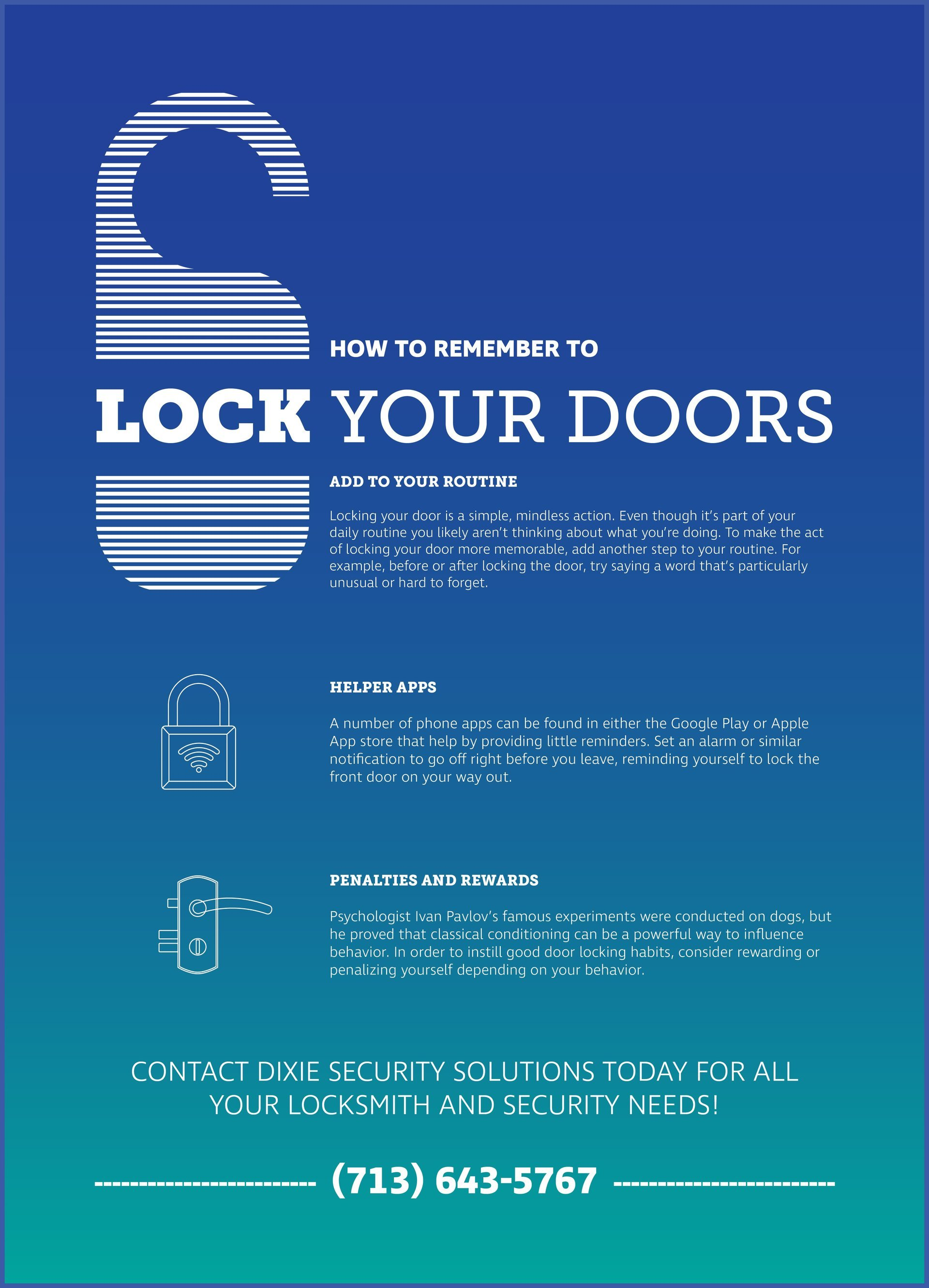 how to remember to lock your doors infographic
