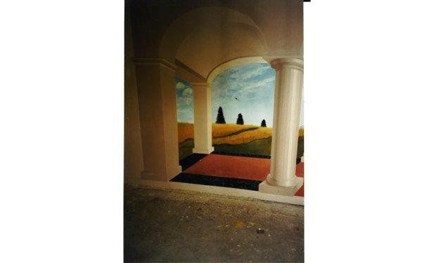 pittura artistica soffitto bologna