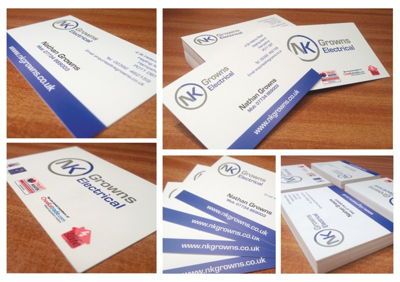 Growns Electrical business cards