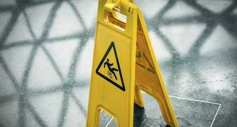wet floor caution board