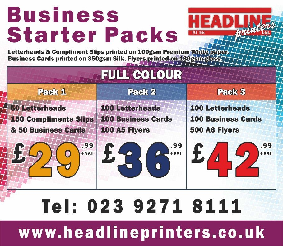 BUSINESS STARTER PACKS rate card