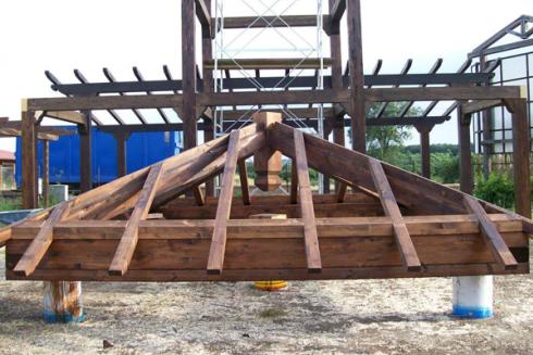 legno travi verniciate