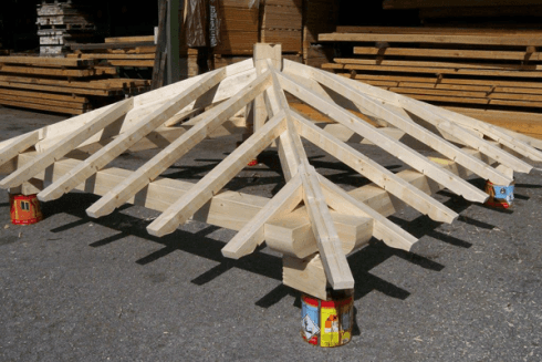 tetto tavole di abete