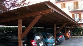 copertura legno auto