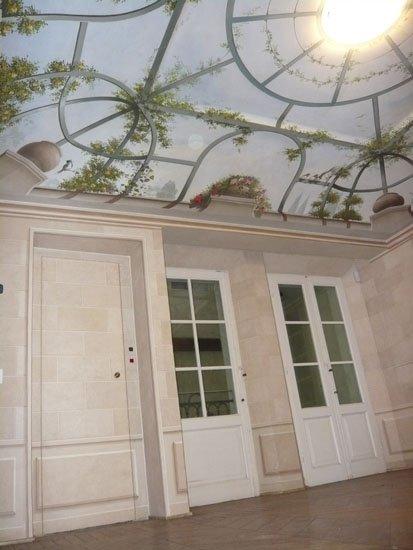 soffitto fiorito