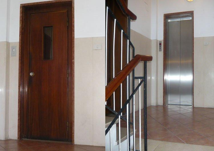 Interno di un ascensore ristrutturato