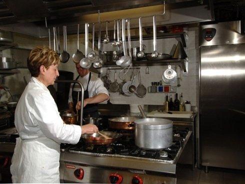 la cucina del ristorante