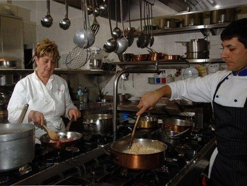 cucina e staff del ristorante