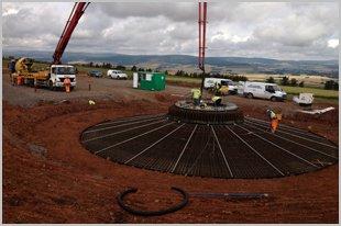 A wind farm project