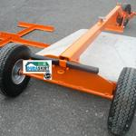 The Duraskirt Seismic Retrofit Cart features a storage place for the long handle for ease of transportation.