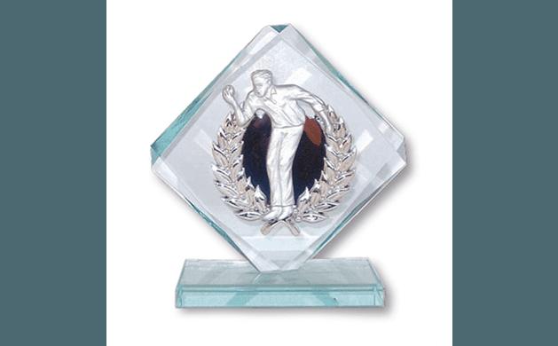 Coppa in vetro e argento