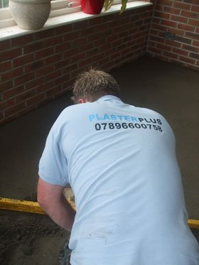 Plastering - Christchurch, Dorset - Plasterplus Property Services - workman