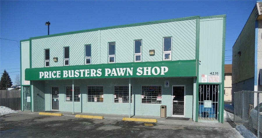 Front view of our pawn shop in Anchorage, AK